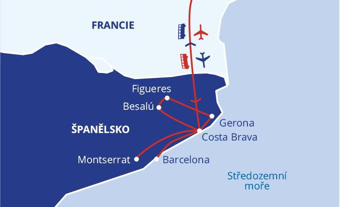 Krásy Katalánska s pobytem u moře #2
