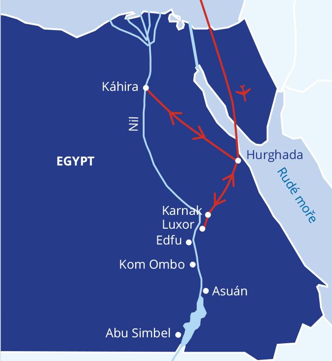 Malý okruh Egyptem s koupáním v Hurghadě #2