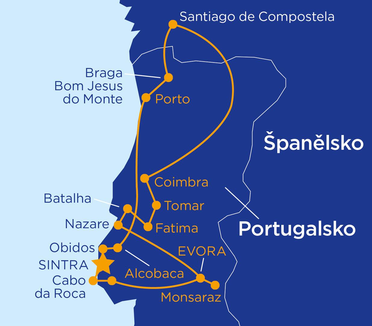 Portugalským pobřežím Atlantiku s výletem do Španělska #2