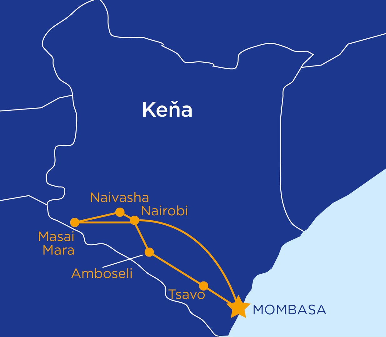 Safari okruh Keňou s pobytem u moře #2