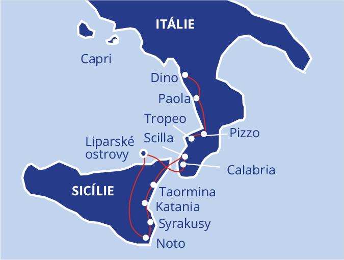 Na špičce boty Itálie - Kalábrie a Sicílie #2