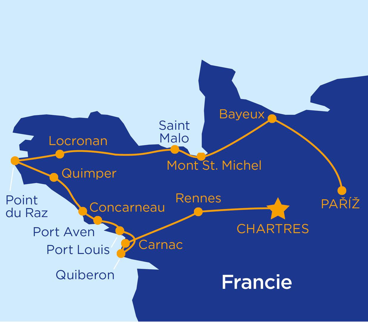 Bretaň a Normandie - perly Francie (autobusem) #2