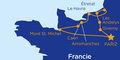 Paříž a neznámá Normandie (autobusem) #2