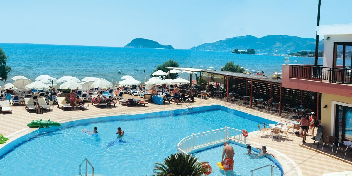 Mediterranean Beach Resort Hotel Zakynthos Greece Holidays