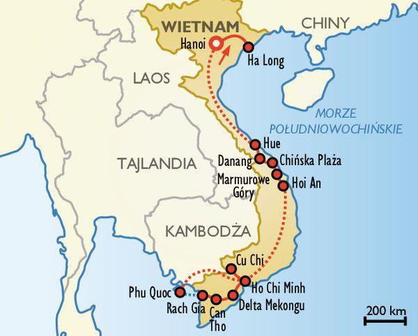 Wspaniała podróż po Wietnamie: Hanoi, Da Nang, Phu Quoc i Ho